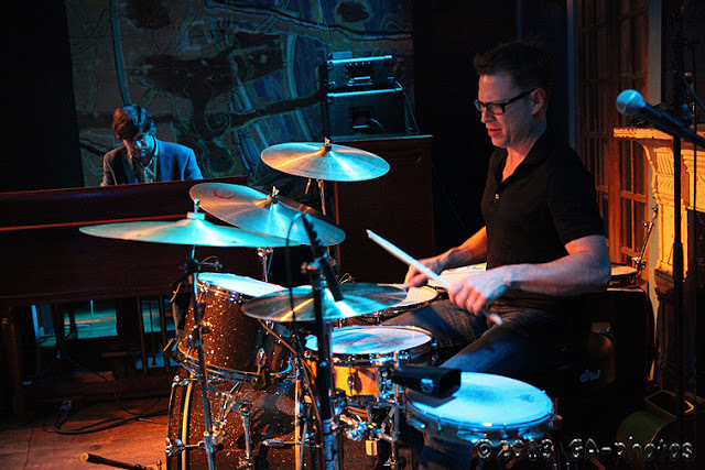 Robert Walter (left) and Stanton Moore at New Orleans' Blue Nile, April 2013
