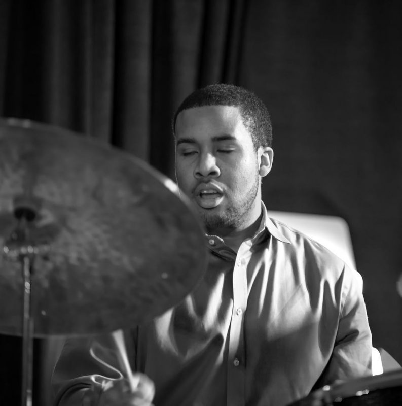 Billy Williams, Jr. performing with vibraphonist Warren Wolf at the Attucks Theatre in Norfolk, Va.