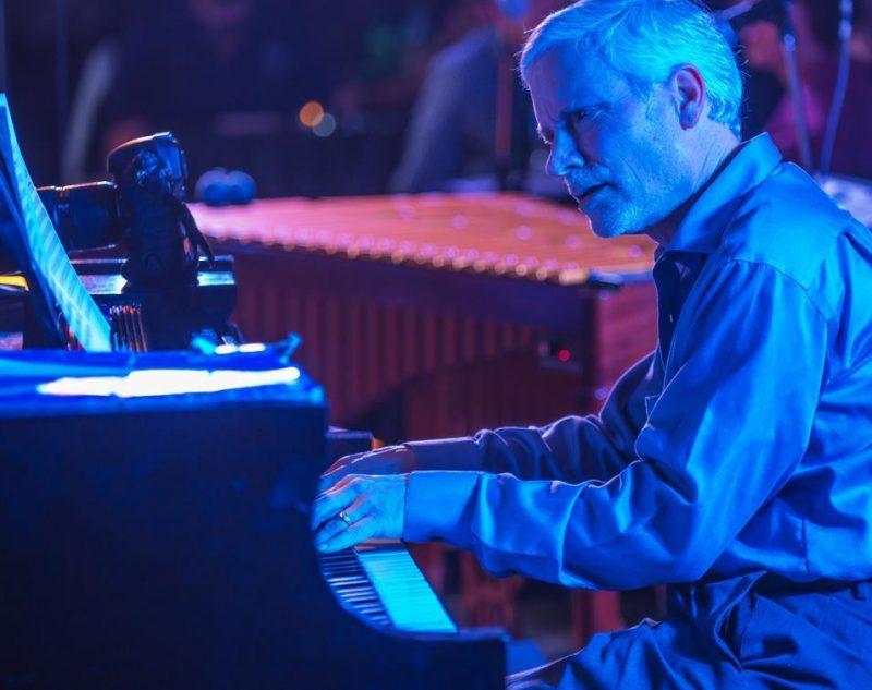 John Toomey performing with vibraphonist Warren Wolf at the Attucks Theatre in Norfolk, Va.