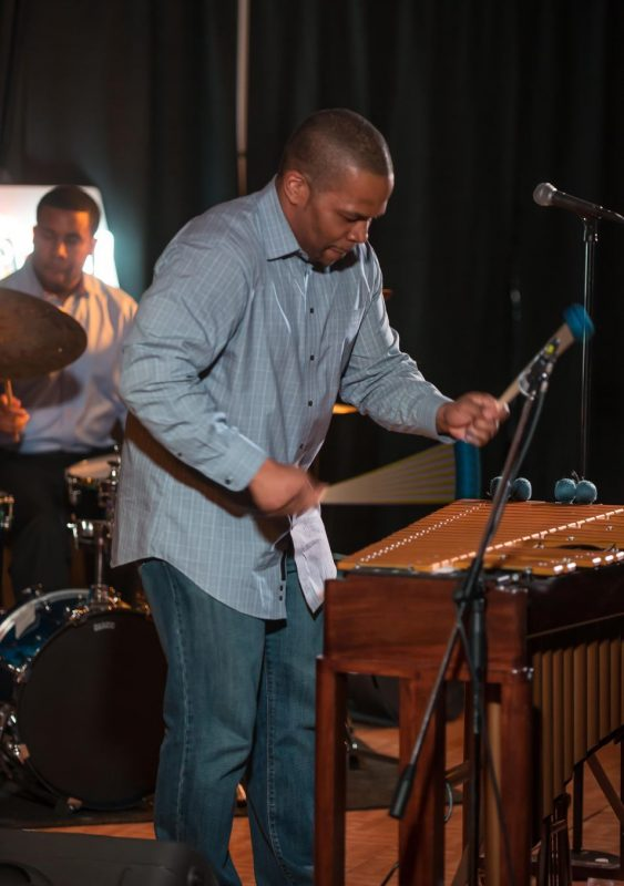 Vibraphonist Warren Wolf in performance with John Toomey (piano), Jimmy Masters (bass) and Billy Williams, Jr. (drums) at the Attucks Theatre in Norfolk, Va.