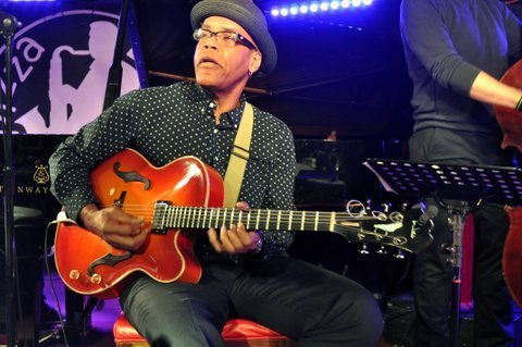 Ed Cherry in performance at Pizza Express in London