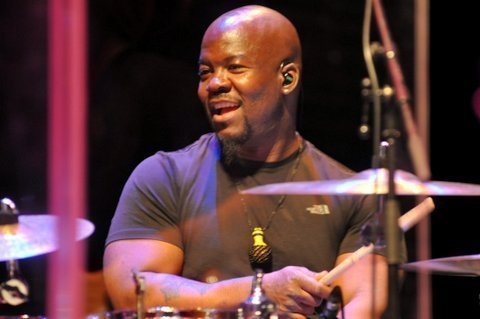 Christopher Coleman performing with David Sanborn at the Barbican Centre in London