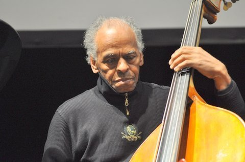 Cecil McBee in performance saluting Strata-East at the Barbican Centre in London