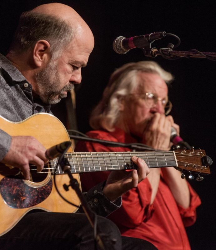 Joel Brown and Peter Muscat Ruth in performance with Triple Play at The Chrysler Museum of Art in Norfolk, Va.