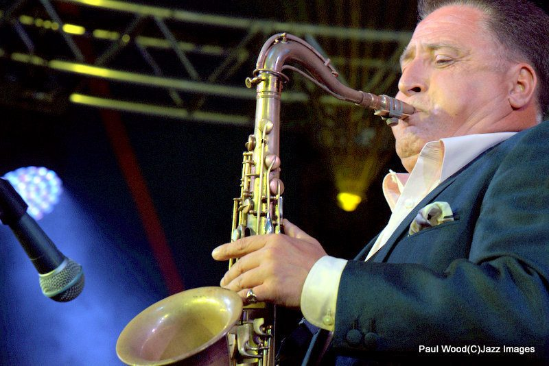 Ray Gelato in performance at the 2015 Ealing Jazz Festival