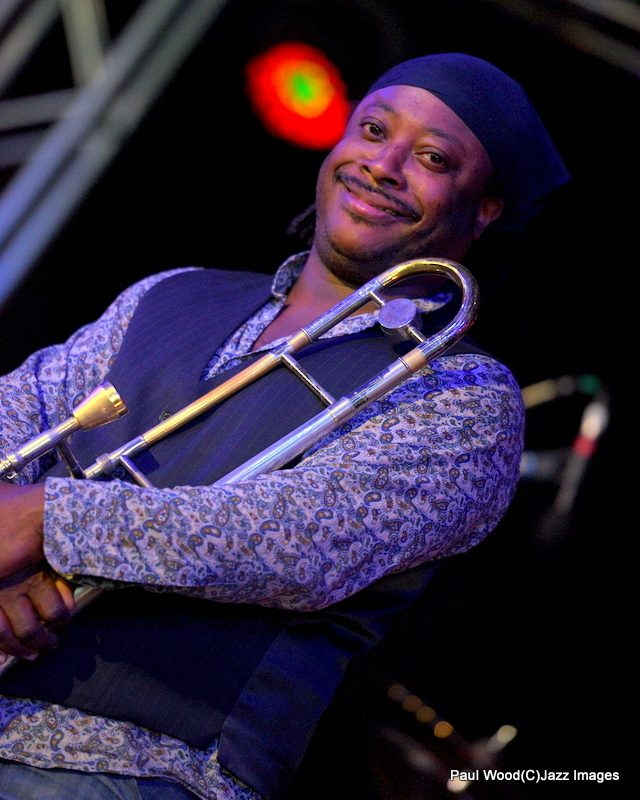 Winston Rollins in performance at the 2015 Ealing Jazz Festival