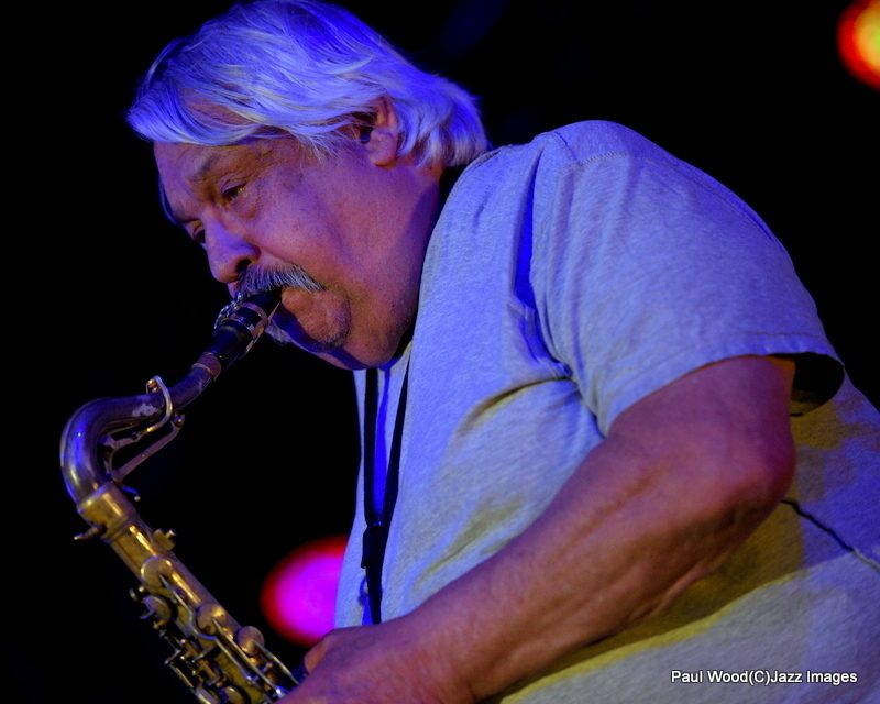 Saxophonist Willie Garnett in performance at the 2015 Ealing Jazz Festival