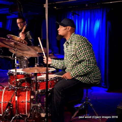 Terreon Gully, performing with Joe Locke, London Pizza, London, England January 2016