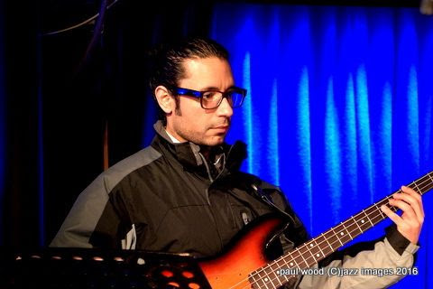Ricky Rodriguez, performing with Joe Locke, London Pizza, London, England January 2016