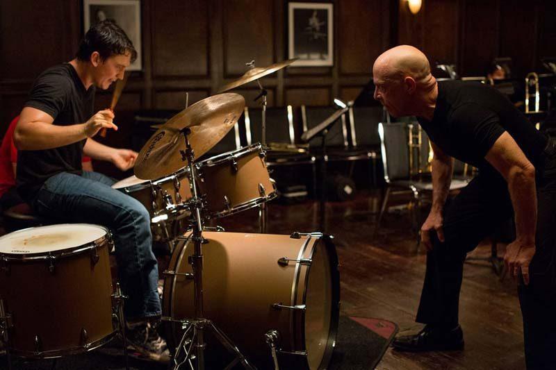 """Miles Teller (l.) and J.K. Simmons in """"Whiplash"""""""
