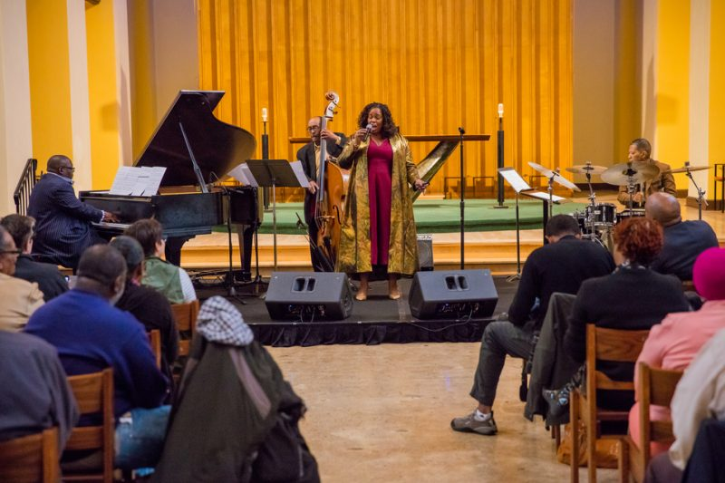 Dianne Reeves, with pianist Cyrus Chestnut, bassist James King and drummer Nasar Abadey, performs at a D.C. church as part of International Jazz Day 2016