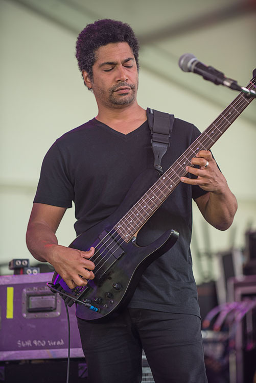 Matthew Garrison performs at Funhouse Fest, curated by Bruce Hornsby, in Williamsburg, Virginia in June 2016