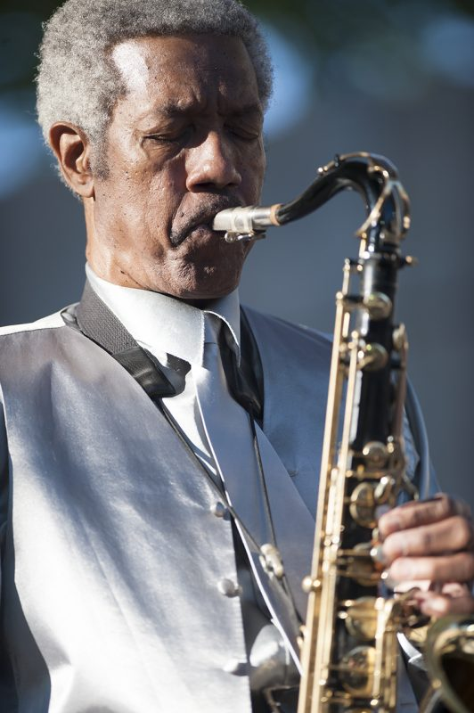 Billy Harper performs with the Stanley Cowell Quintet at the 2016 Detroit Jazz Festival