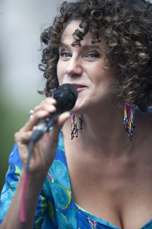 Cyrille Aimée performs at the 2016 Detroit Jazz Festival