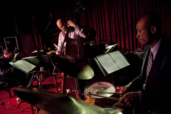 Hersch's working trio, featuring bassist John Hébert and drummer Eric McPherson, at the Village Vanguard in 2012 image 0
