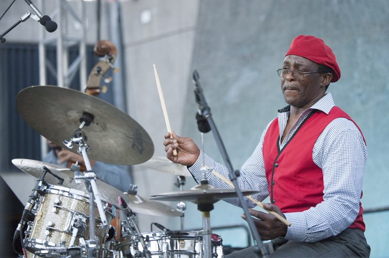 Herlin Riley performs at the 2016 Detroit Jazz Festival