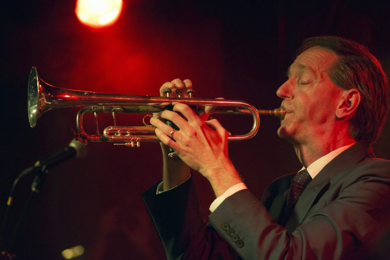 Brian Carpenter performs with the Ghost Train Orchestra on the Heath Stage at the 2016 New York Hot Jazz Festival