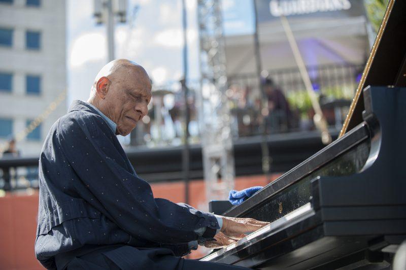 Kirk Lightsey performs at the 2016 Detroit Jazz Festival