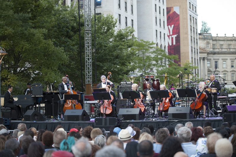 Artist-in-residence Ron Carter and his nonet perform on opening night, Sept. 2, of the 2016 Detroit Jazz Festival