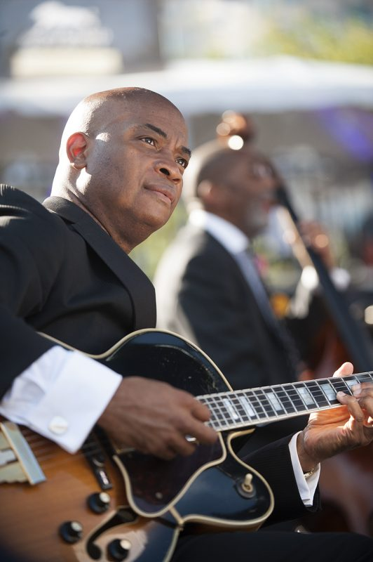 Russell Malone performs in Ron Carter's Great Big Band at the 2016 Detroit Jazz Festival