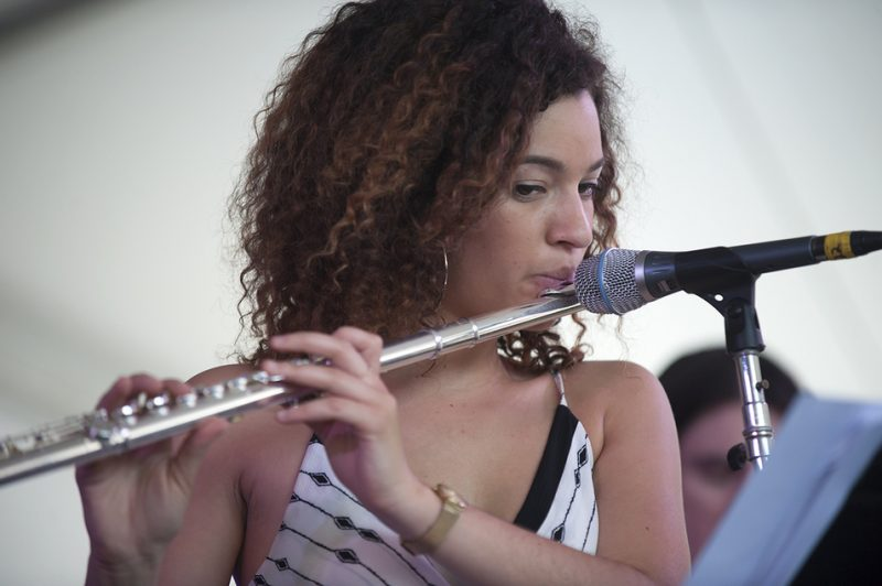 Elena Pinderhughes performs in Stefon Harris' Sonic Creed at the 2016 Newport Jazz Festival