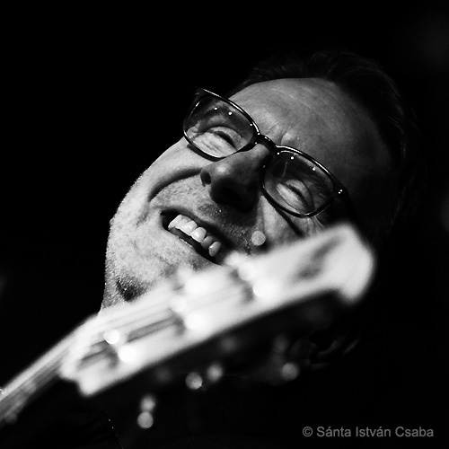 Bassist Tom Kennedy performing with the Mike Stern & Dave Weckl Band at the Blue Note Milano in Italy