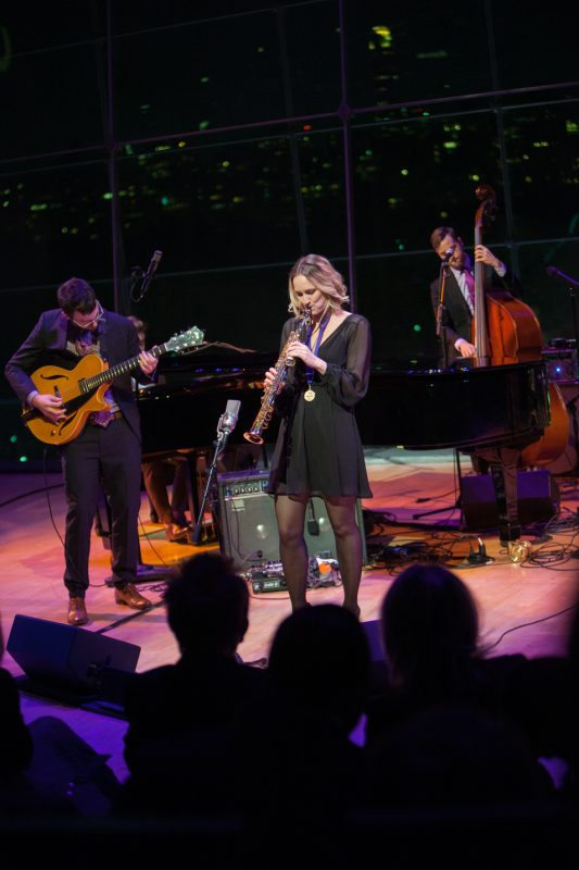 Herb Alpert Young Jazz Composer Award Winner recipient Roxy Coss performs at the 2016 ASCAP Foundation Honors
