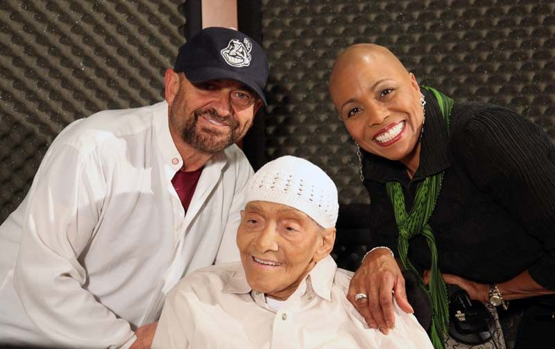 """Jimmy Scott with Joe Pesci and Dee Dee Bridgewater, two of the guests on """"I Go Back Home"""""""