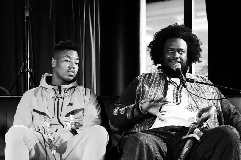Christian Scott aTunde Adjuah (left) and Kamasi Washington at the North Sea Jazz Festival in July